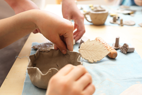 Artscapes kids creative workshops, pottery