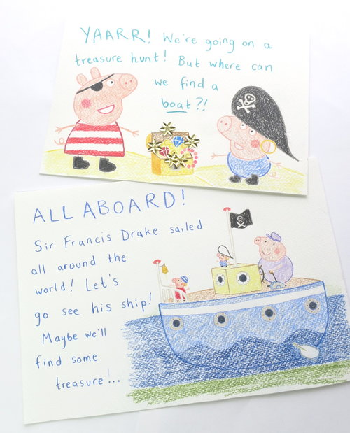 Artscapes kids treasure hunts, Peppa Pig